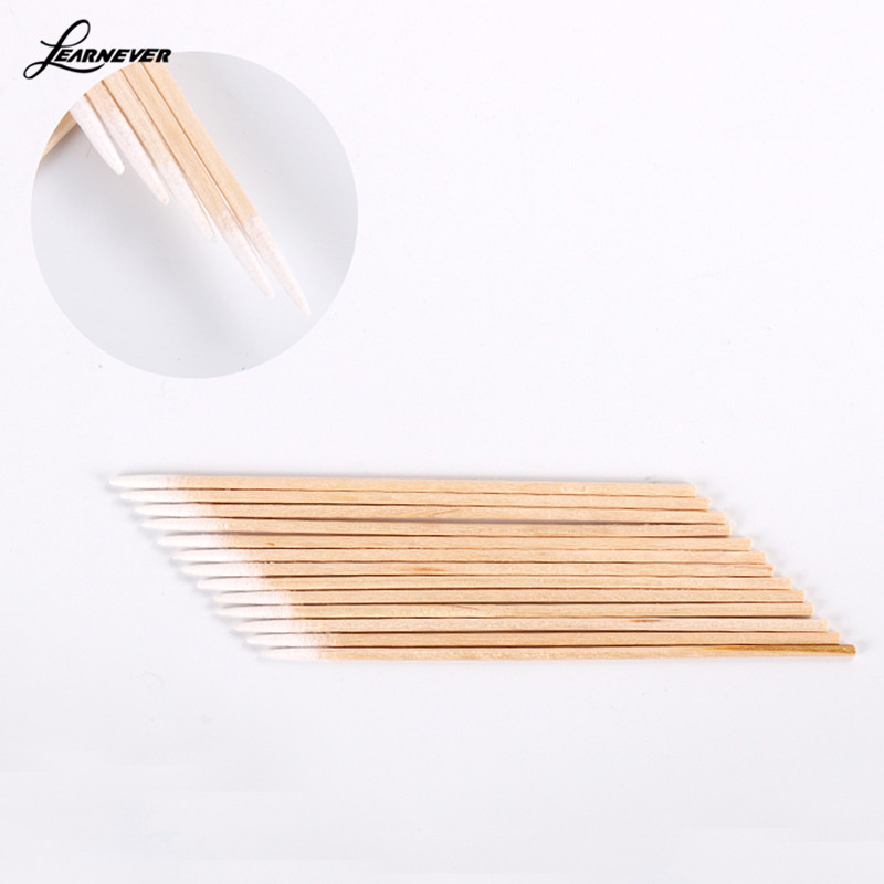 100 Pcs/lot 7.5cm Wood Cotton Head Health Makeup Ear Clean Jewelry Clean Cotton Swab Stick Buds Tip Medical M03103