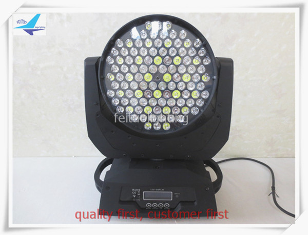 free shipping Stage Lumiere LED Wash 108x3w Moving Head Light RGBW Color Mixing DJ Disco DMX Control Strobe Sound Active Lamp
