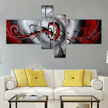 DIY 5D Abstract Red Diamond Embroidery Painting Full Drill Round Cross Stitch Kit Home Decor