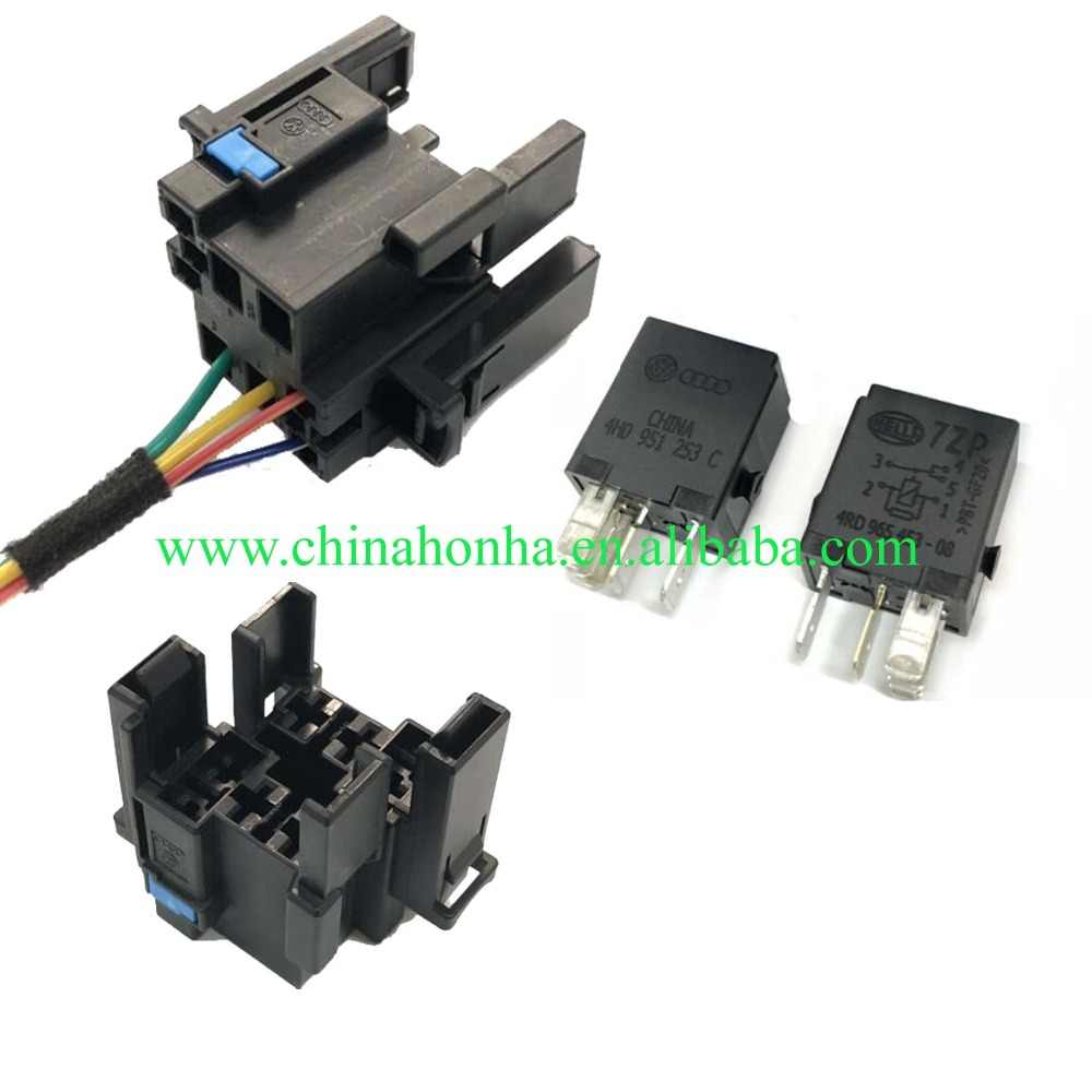 1 sets Automotive wiring harness plug 646 relay A 5-pin pedestal base  Pin Wiring Harness Plug on