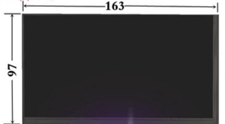 все цены на  ^ A+ Second hand LCD Screen Panel BF 784-01  LCD internal display screen 163x97mm  онлайн
