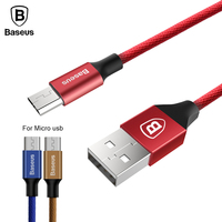 Baseus Micro USB Cable For Samsung Huawei HTC LG Xiaomi Data Sync Cable 5V2A Quick Charger Cable For Android Fast Charging Cable