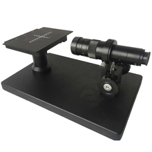 Promo offer Horizontal Video Stereo Microscope with 180X C-Mount Lens for Industrial Lab Flatness Detection Scale Plate X-Y Stage Load Table