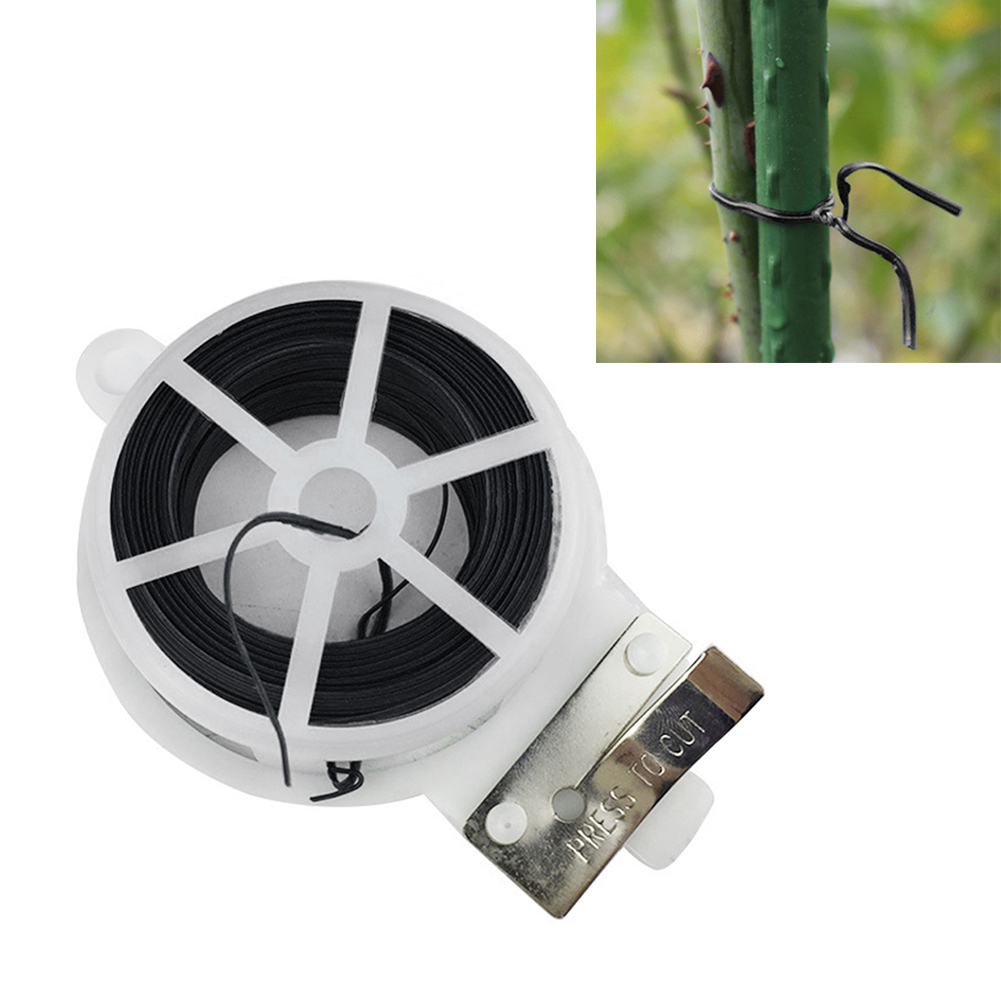 100m/ 328ft Plants Ties Plant Organizer Binding Diy Cable Wire Grafting Twist Plastic Gardening Accessories Garden Supplies