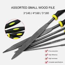 цена на 6Pcs/Set Carbon Steel Woodworking Assorted Files Fine-toothed  Wood Carvings Multifunctional Woodworking Carvings Hand Tools