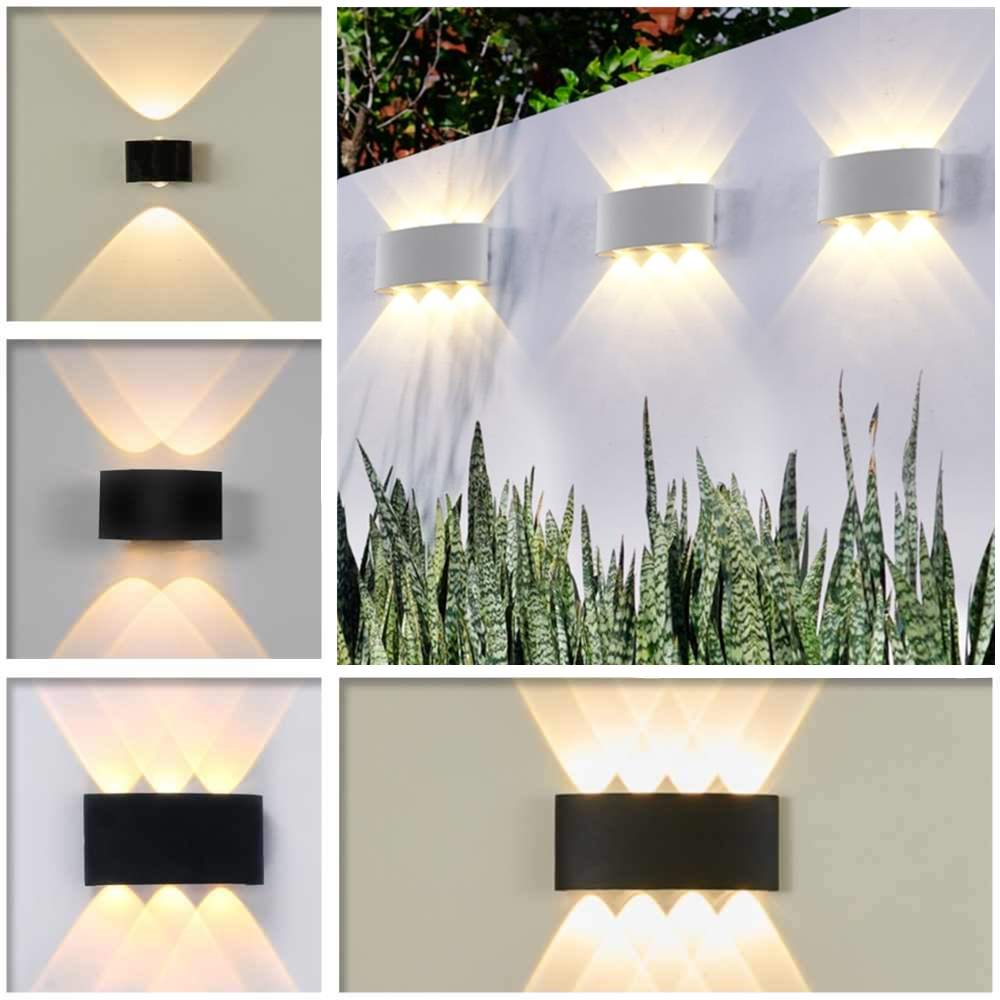 Led Lamps Modern Led Wall Light Ip65 Waterproof 6w 12w Die Cast Aluminum Wall Sconce Indoor Outdoor Lighting Ac90v To 260v Led Wall Lamps