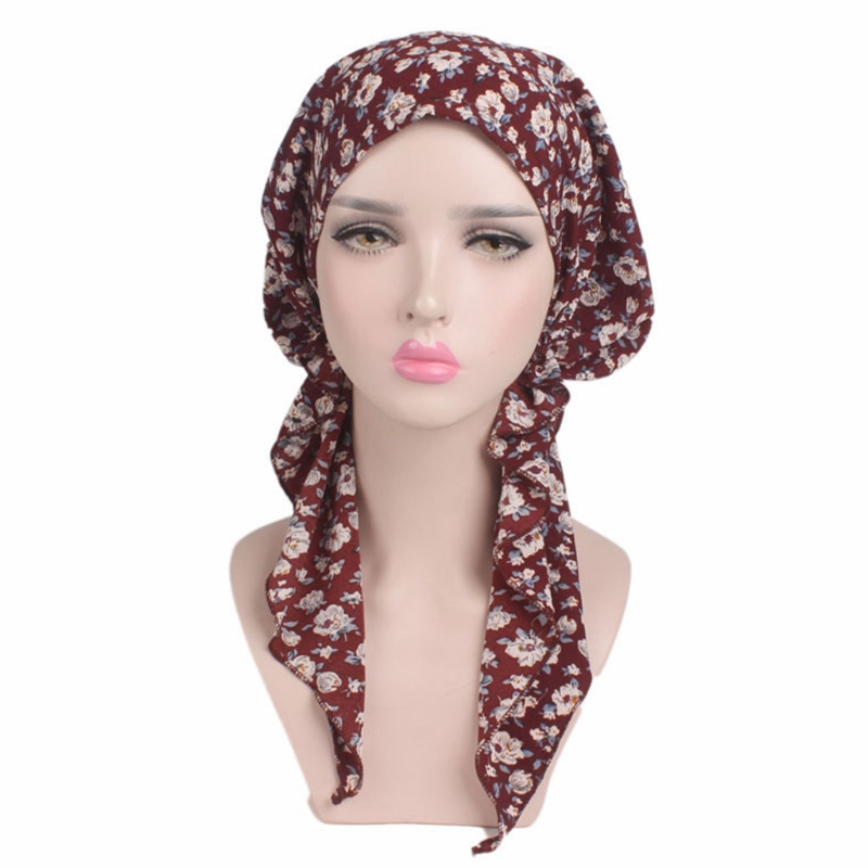 Beanie Hair Loss Cancer Woman Hat Sweet Turban Chemotherapy Cap Lady Long Hat