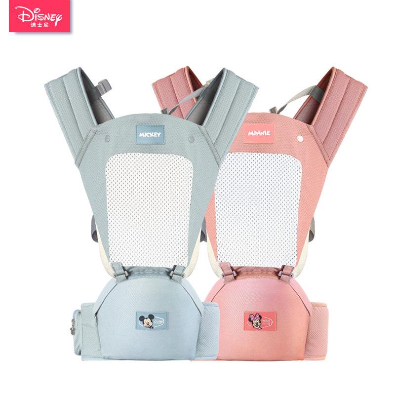 Disney Baby Hipseat Ergonomic Infant Baby Carrier Front Facing Kangaroo Wrap Sling forTravel Backpacks baby wrap pocket front curved hem wrap trench dress