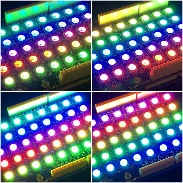 NOVO! keyestudio 40 rgb levou ws2812 pixel matriz escudo para arduino