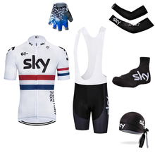2018 TOP black White 5PC sky Cycling Jersey Sets With Bib 2018 New Style  Bicycle Summer 1cbc1f906