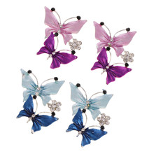2Pcs Colorful Butterfly Rhinestone Flatbacks Crystal Flat Back Cabochon Buttons Scrapbooking Slime Charm DIY Embellishment Craft(China)