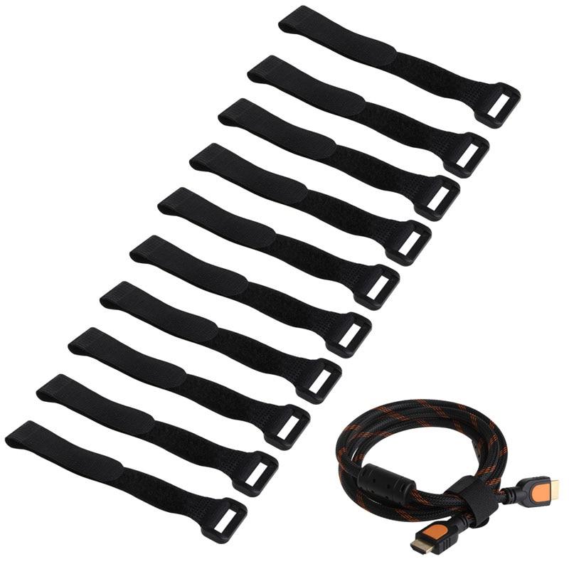 10Pcs 20*2cm Strong RC Battery Tie Down Strap Reusable Antiskid Cable Straps Black/Yellow/Red/Green/Blue #K4UE# Drop Ship tpe170 reusable pe plastic cable management ties black 50 pcs