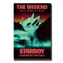 Книги по искусству настенные плакаты Печать на холсте Современная живопись Декор выходные дни Starboy хип хоп рэп-певец 8x12 14x21 12x18 24x36 27x40in