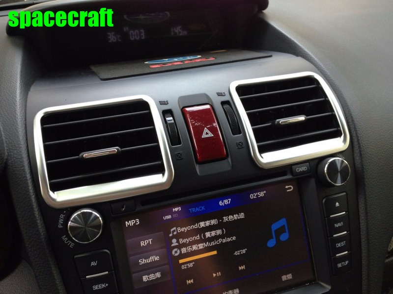 Auto inerior accessories, Matte color air vent trim,armrest trim,inner car styling for subaru Forester 2013-2015, car styling
