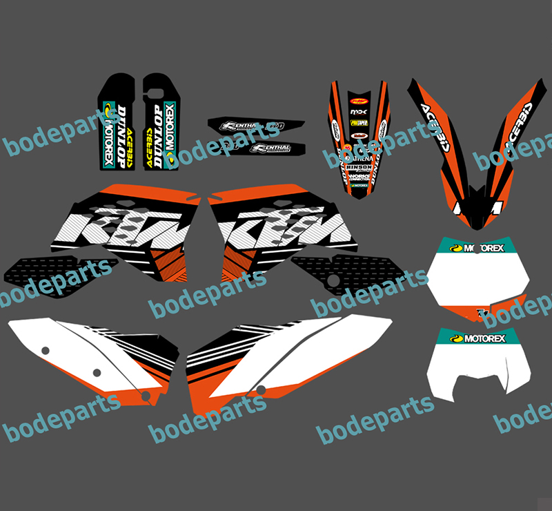 Motorcycle Motor Bike KTM all Model 125 525 Decal Sticker Graphics For KTM SX SXF EXC