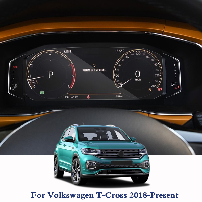 GPS Navigation Screen Steel Glass Protective Film For Volkswagen T-Cross 2018 2019 Dashboard Display Screen Film Car Sticker