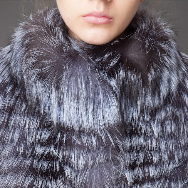 14f33eda0d 2017 Guessna fur coats for women winter fox fur strip outwear fashion silm fur  jacket thick