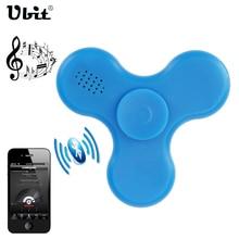 Ubit Wireless LED MINI Bluetooth Speaker Music With Spinner Wireless Speakers LED Flashing Toys Audio Loudspeaker