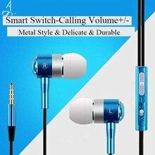AhSSuf Earphone In Ear Kulaklik Sport Bass Auriculares Deportivos Fones De Ouvido Ecouteur Earbuds Casque Audio for Smartphone
