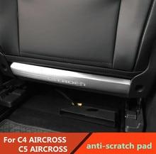 Anti-scratch Pad dla Citroen C5 AIRCROSS C4 AIRCROSS tylne siedzenie Anti-kick płyty anty Anti-scratch Pad ze stali nierdzewnej wykończenia 2 sztuk
