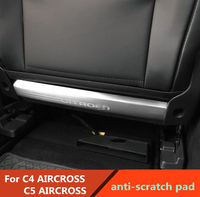 Anti scratch pad For Citroen C5 AIRCROSS C4 AIRCROSS Rear Seat anti kick plate anti scratch pad stainless steel trim 2pcs