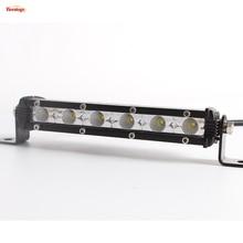 Licht Sourcing 9 zoll Einreihige 18 Watt Led-lichtleiste DRL Für Offroad 4*4 SUV ATV Traktor