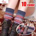 free shipping Specials national wind socks piles of socks hit color Korean fashion spell color socks but thicker socks knee boot