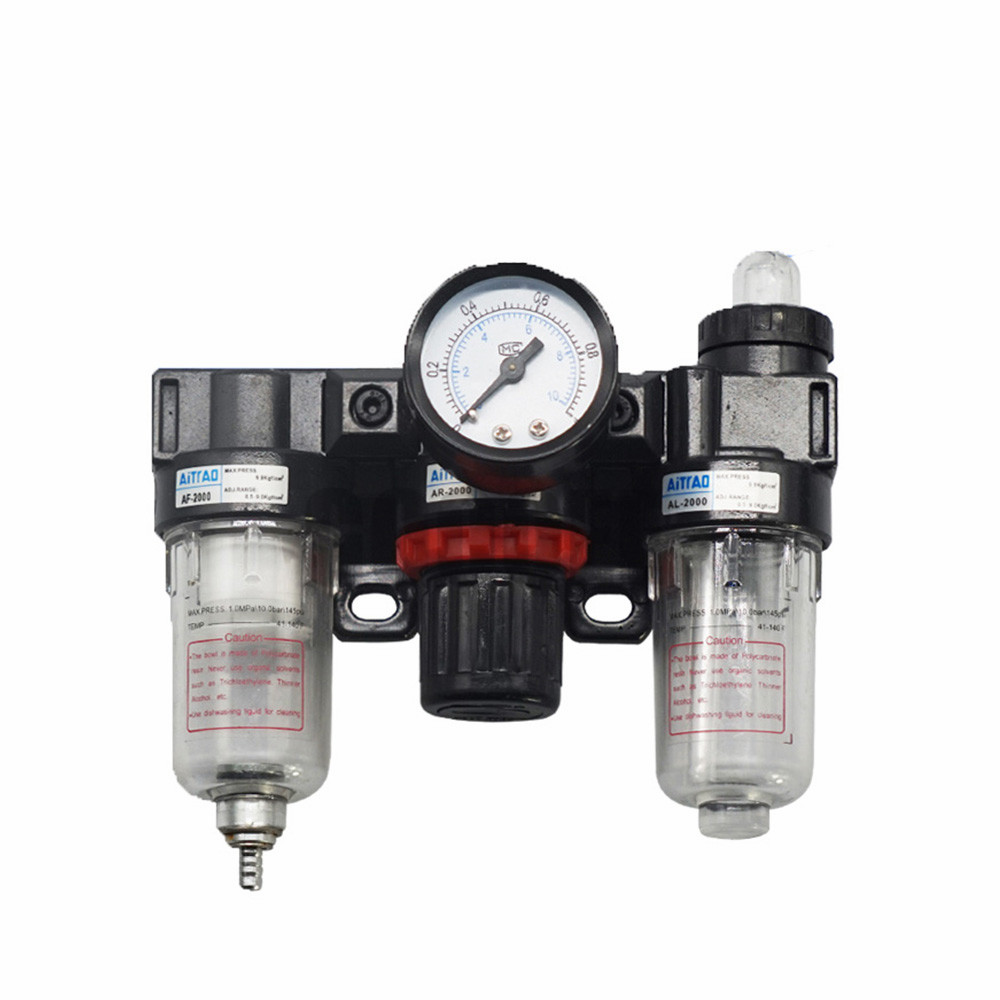 Three Pieces Pneumatic Parts AC2000 Air Filter Combination BC2000 Air Source Treatment oil water separator цены