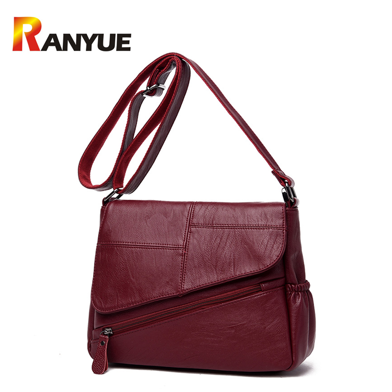 RANYUE Luxury Handbags Women Bags Designer Soft Pu Leather Shoulder Bag 2017 Female Messenger Bag Casual Tote Bag Bolsa Feminina women messenger bags leather clutch purse casual small shoulder bag for girl female tote handbags wristlet bolsa tote hand bag
