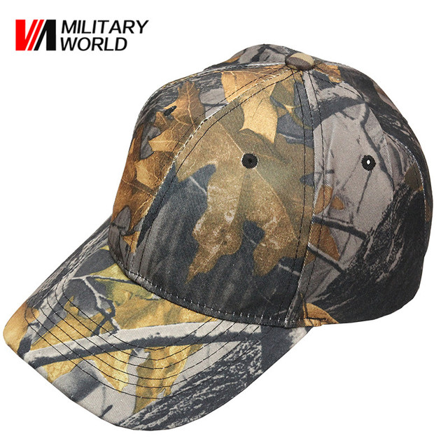 Adjustable Camouflage Cotton Baseball Cap Fitted Hat Man Outdoor Sports Hunting  Caps Fishing Paintball Military Snapback Hats 8fe5acd97f0c
