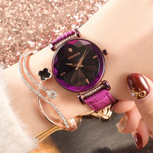 лучшая цена Hot Style Waterproof Quartz Watch for Young Fashion Simple Star Black Red Rope Strap Wirst Watches