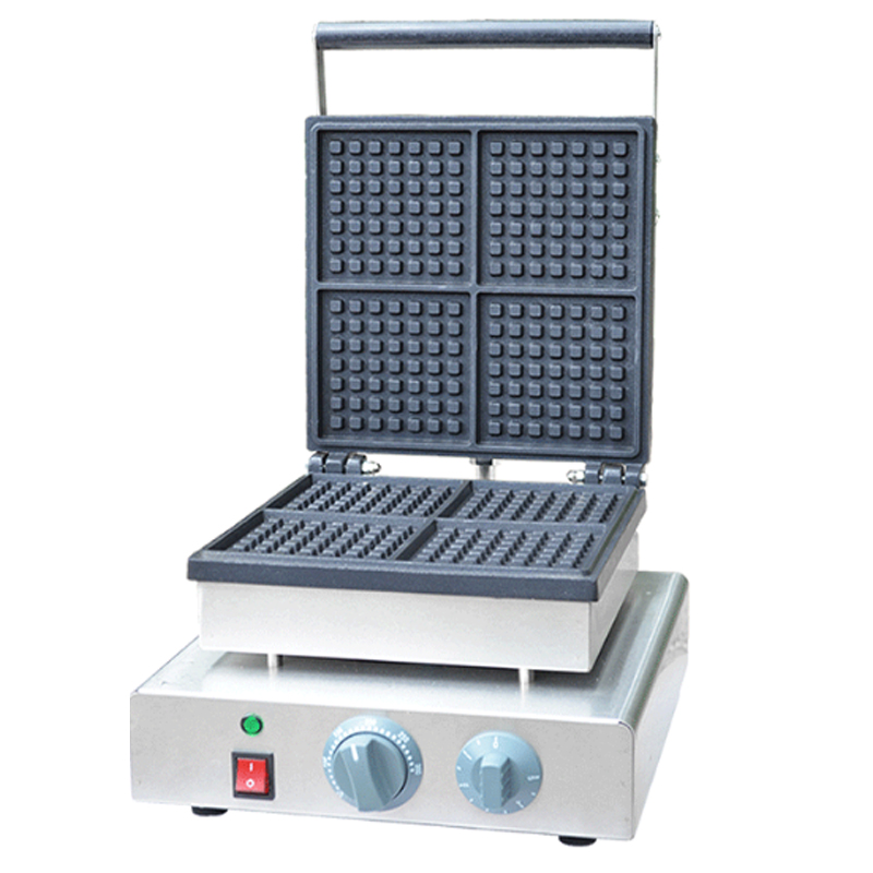 110V 220V Non-stick Electric Waffle Machine Multifunctional Commercial Square Muffin Waffle Baking Machine EU/AU/UK/US Plug 110v 220v commercial electric non stick dorayaki waffle machine 9pcs electric muffin cake waffle maker machine eu au uk us plug