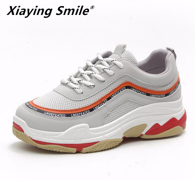 Xiaying Smile NEW basic style women Running shoes lace up sport shoes outdoor jogging walking shoes