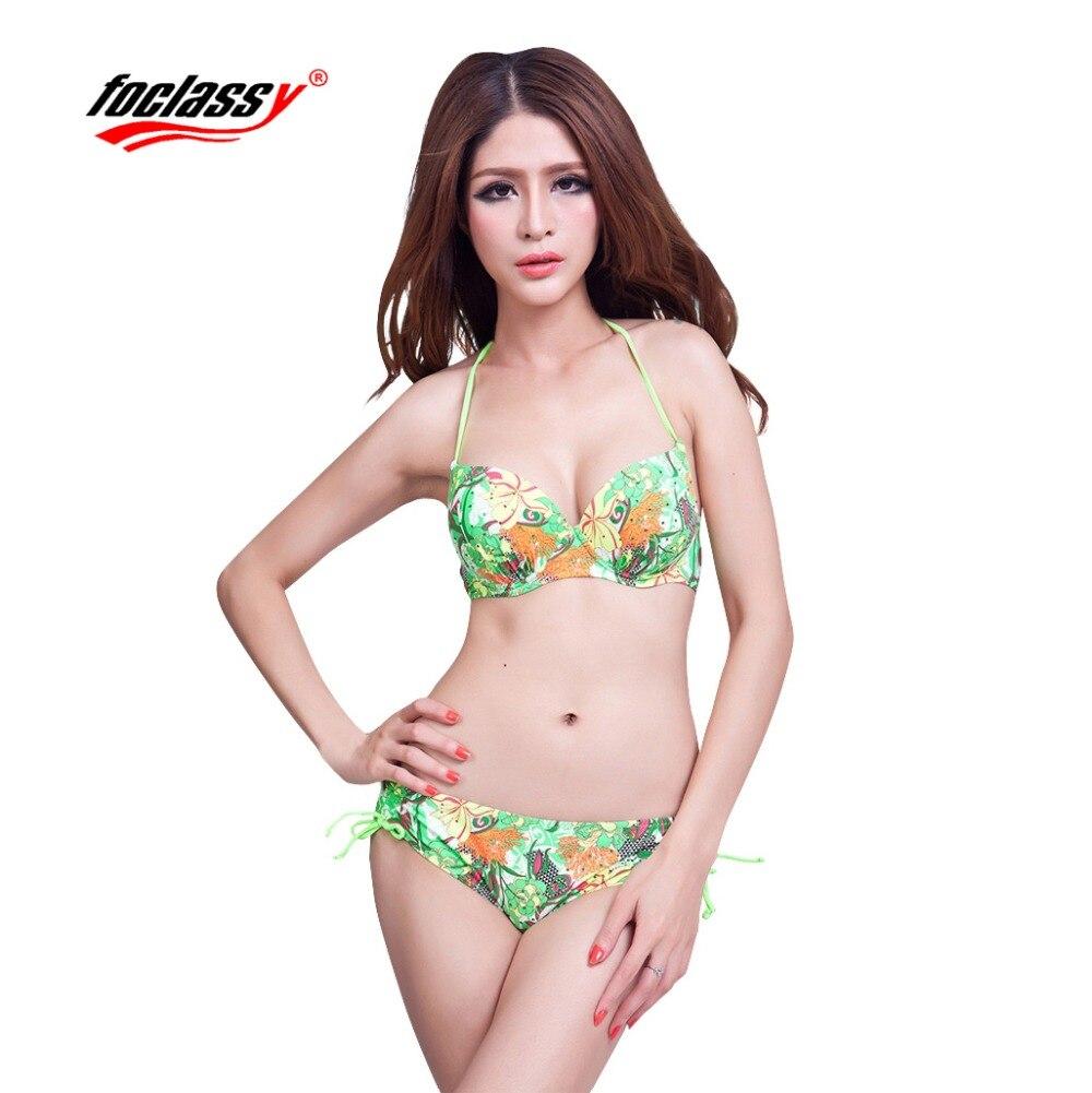 Foclassy Mayo Bikini 2017 Plus Ölçü Üzmə Üzgüçülük Qadın - İdman geyimləri və aksesuarları - Fotoqrafiya 1