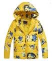 Розничная молния пальто в толстой хлопка-ватник куртка с капюшоном детей
