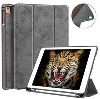 9.7 2018/2017 case with Pencil Holder Flexible Soft TPU Back Cover and Trifold Stand Smart Cover Case