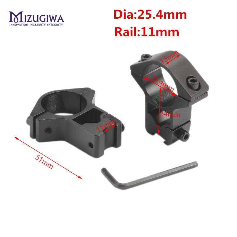 25-4mm-Ring-11mm-Base-Dovetail-Rail-Mount-High-Profile-Scope-Lasers-Flashlight-Air-Rifle-Sight