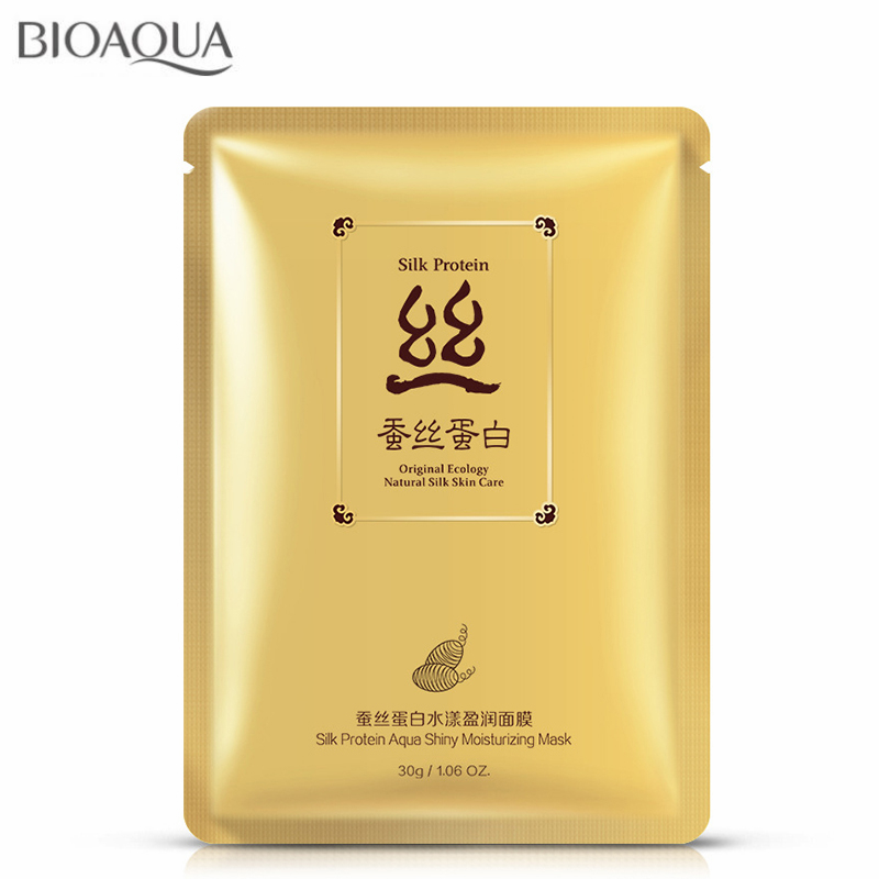 New 30g*6pcs Silk Protein Aqua Shiny Moisturizing Facial Mask Face Mask Ageless Shrink Pores Anti Aging Anti Wrinkle Skin Care
