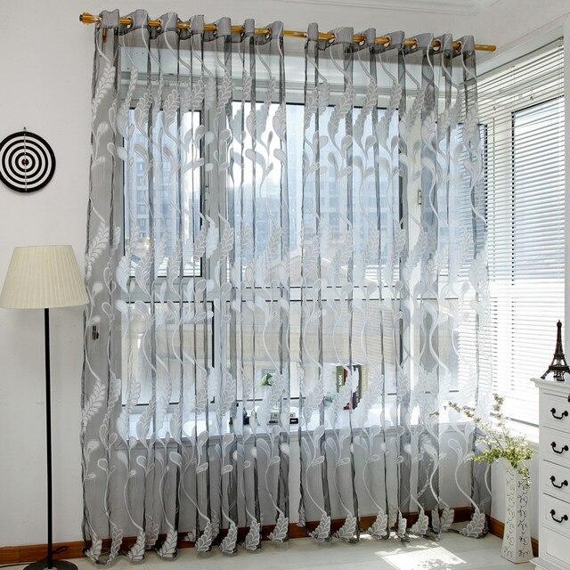 2018 nueva moda Decoración para el hogar trigo cortina de tul