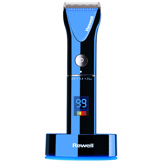 Professional Electric Hair Clipper Titanium F17 Rechargeable Hair Trimmer For Men Beard Shaver Hair Cutting Machine LED Display