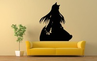 Wall Art Vinyl Room Sticker Decal Mural Anime Girl Cat Dress Movie Hero