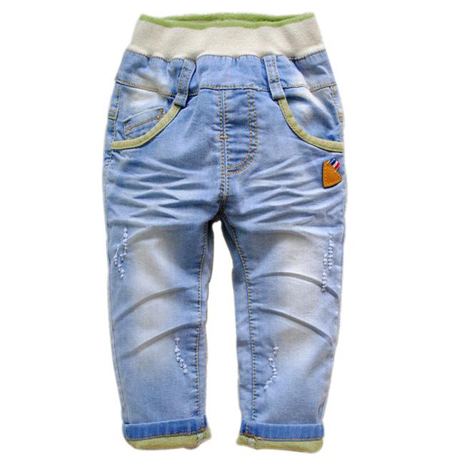 6303 envío gratis denim pantalones vaqueros del bebé pantalones casuales pantalones de primavera otoño niños bebés pantalones vaqueros de nueva moda