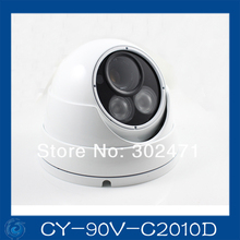 1/3″ Sony CCD Effio-e 700TVL 673+4140 OSD menu array leds IR 30m outdoor waterproof cctv camera with Bracket . CY-90V-C2010D