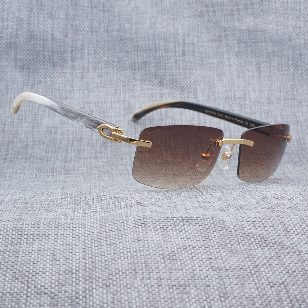 a2bc91f6b074b Sunglasses Men Luxury Buffalo Horn Carter Glasses for Men Unique ...