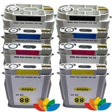 8 Совместим hp88 HP 88 XL 88XL Картридж для Officejet Pro K550dtn K550dtwn L7400 L7480 L7681 L7700 L7710 L7555 L7580 L7590
