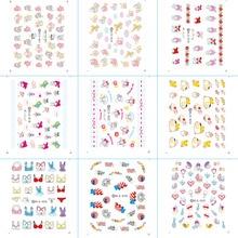 цена на DLS001-030 Fashion Water Foils Nail Art Sticker Cartoon Rabbit Harajuku Design Water Decals Manicure Decorations Tools Sticker