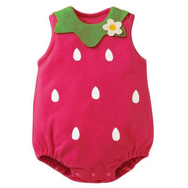 Rompers  Unisex Sleeveless Summer Baby Clothes Infant Jumpsuits Playsuit Newborn Boys Girl Animal Strawberry Costume Cosplay