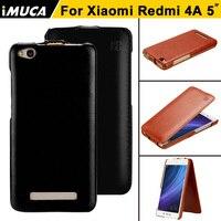 Xiaomi Redmi 4A Case Leather IMUCA Original Redmi 4A Case Flip Back Cover Coque For Xiaomi