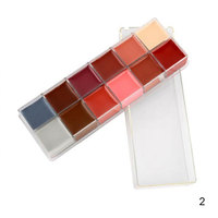 12 Colors Flash Tattoo Face Body Oil Painting Art Halloween Party Beauty Makeup Tool SSwell