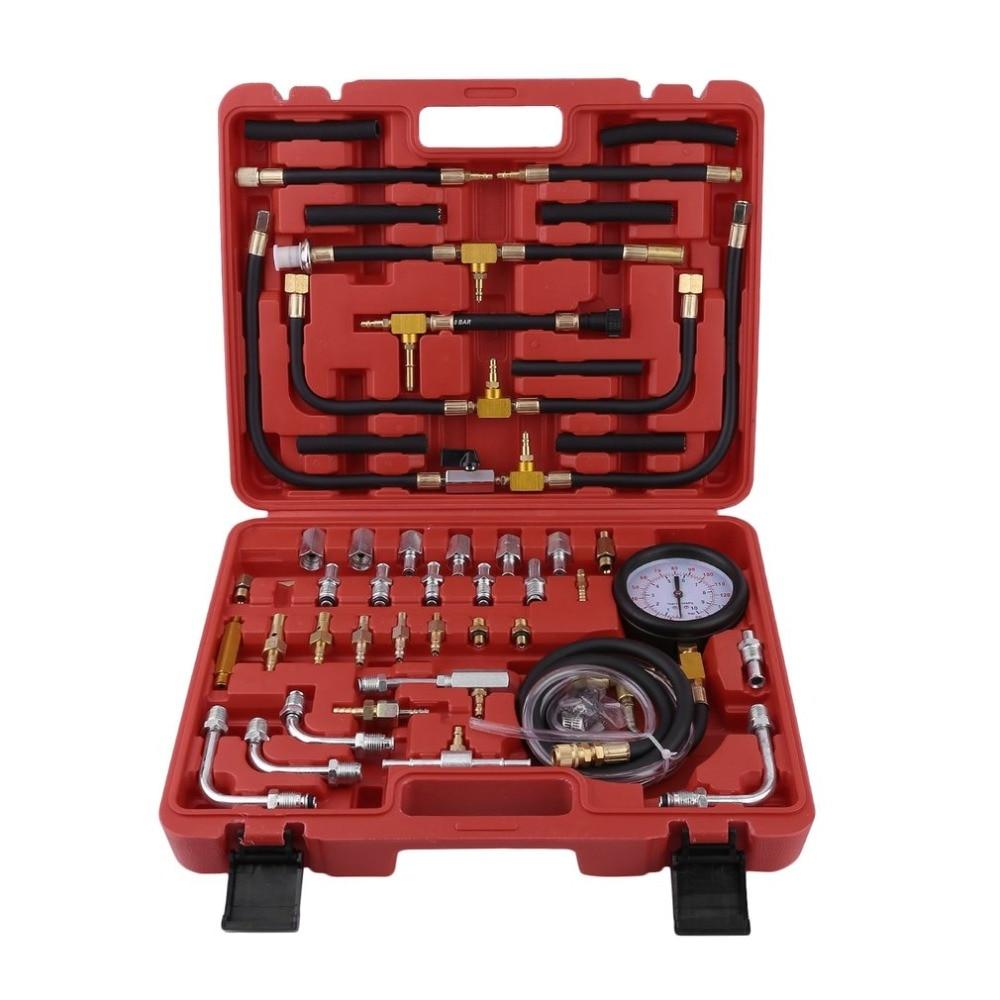 Universal Vehicles Gasoline Pressure Tester Compression Meter Injection System Fuel Pressure Gauge Automotive Tools 0-10 Bar